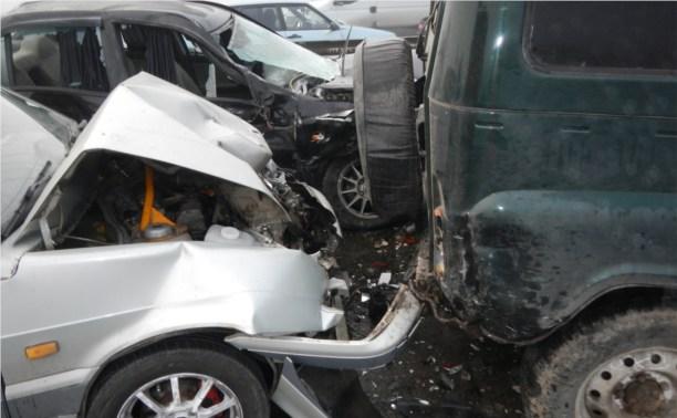Причина аварий на трассе Тула-Новомосковск – сильный туман и наледь на дороге