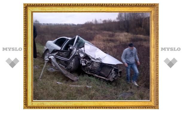 Лобовое столкновение под Тулой: четверо раненых