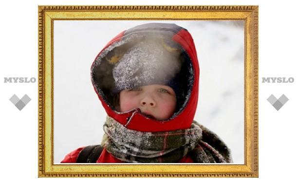 На Тулу наступают морозы ниже 20 градусов