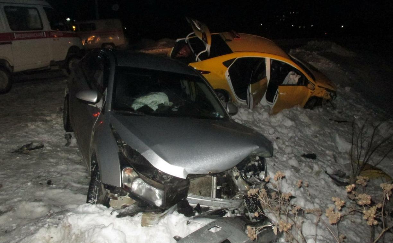 В Ясногорске столкнулись две иномарки: пострадал человек