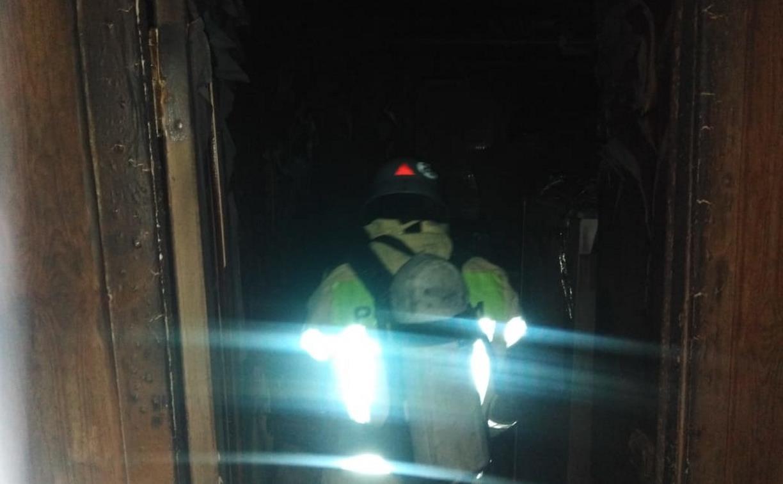 На пожаре в алексинской пятиэтажке погиб человек