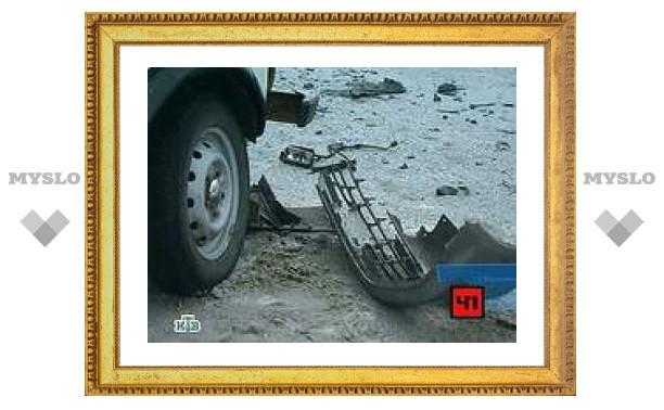 В Краснодаре патрульная машина врезалась в столб