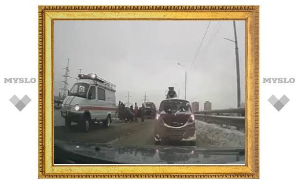Протаранивший иномарку тульский полицейский скончался