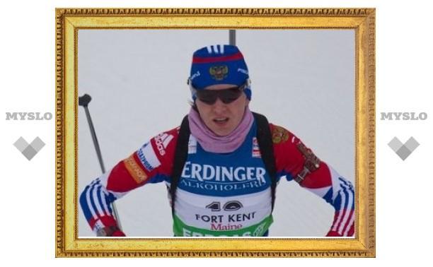 Российская биатлонистка выиграла бронзу на чемпионате Европы