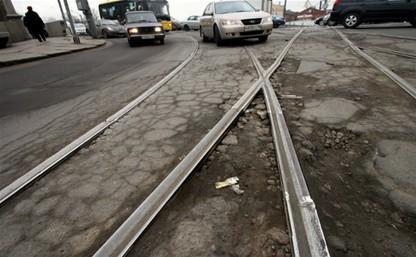 20 мая начнут ремонтировать трамвайные пути