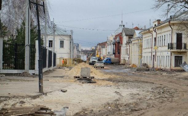 Работы по прокладке основных коммуникаций на улице Металлистов в Туле завершены
