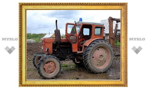 Под Тулой угнали трактор