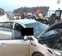 На трассе «Крым» столкнулись легковушка и КамАЗ