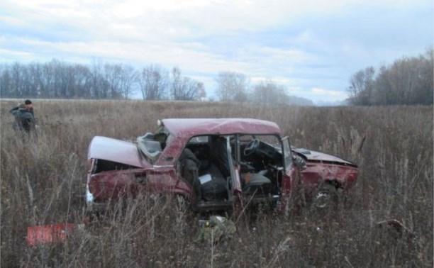 В Чернском районе водитель погиб в перевернувшемся авто