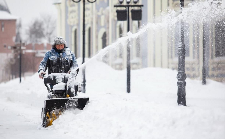 Последствия снежного циклона в Туле: фоторепортаж