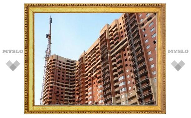 В Туле в этом году построено вдвое меньше квартир