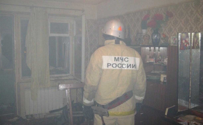 В Богородицке спасатели вывели пенсионера из горящей квартиры