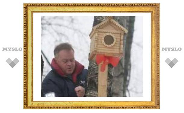 В Туле построили беличий домик