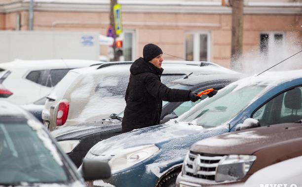 На Тулу идет сильный снегопад: ГИБДД просит водителей воздержаться от поездок