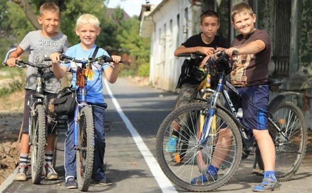На ул. Токарева в Туле появилась велодорожка