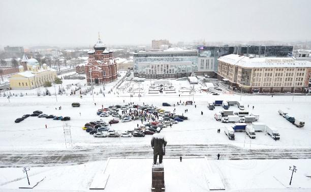 Тульские автомобилисты «нарисовали» сердце на площади Ленина
