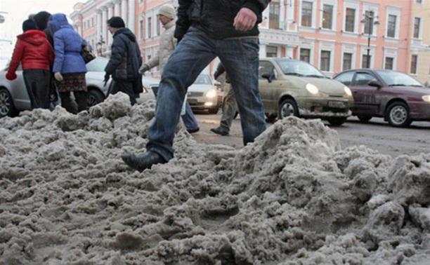 Тульские дороги и тротуары очистят от грязи