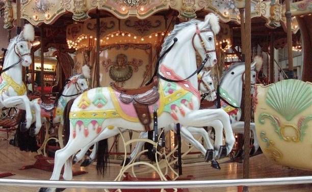 В Кимовске двое пьяных мужчин украли лошадку с карусели