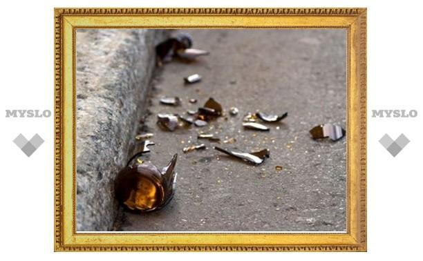 Под Тулой мужчина ударил женщину бутылкой по голове