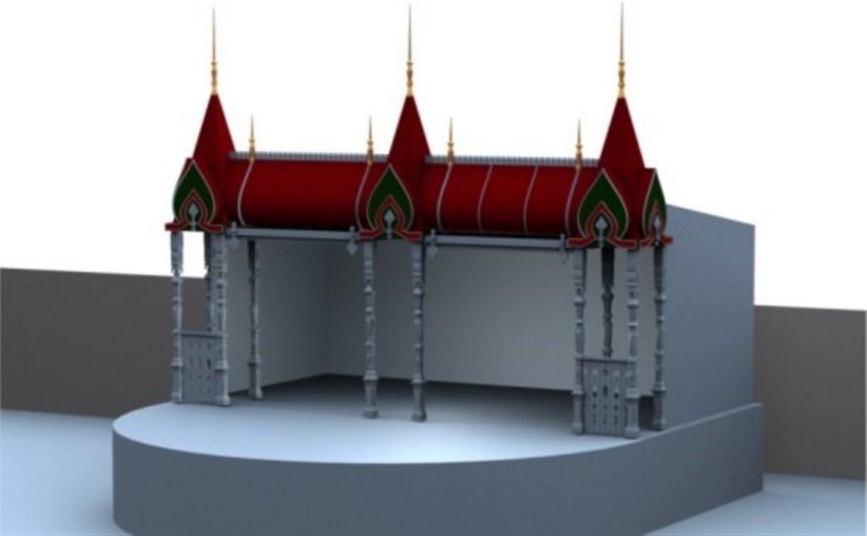 На площади Ленина началась установка новогодних декораций