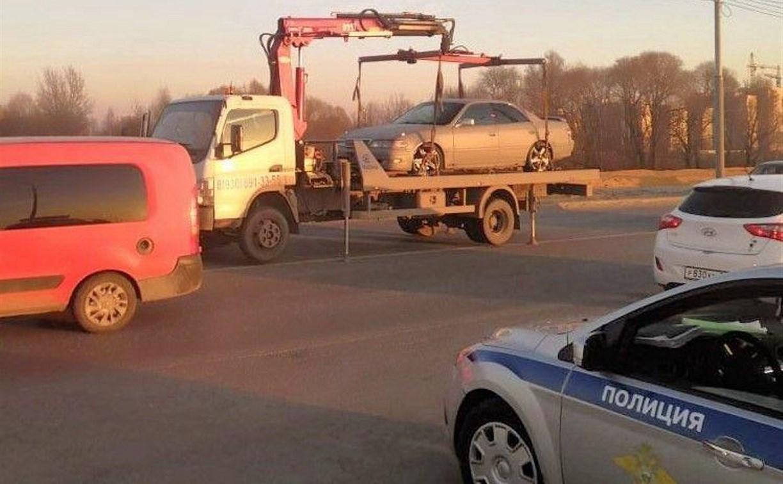 Машину тульского «дрифтуна» с проспекта Ленина забрала полиция