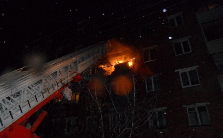 Ночью в Туле сгорела квартира в доме на ул. Гагарина