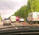 На Новомосковском шоссе сбили мотоциклиста