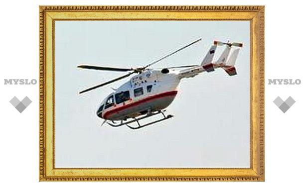 Предполагаемое место крушения воздушного судна под Тулой ищут с вертолета