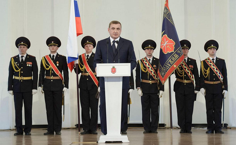 Алексей Дюмин поздравил сотрудников тульской полиции с праздником