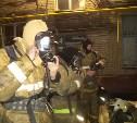 Ночью в Щёкино загорелся жилой дом