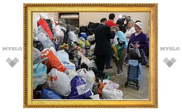 В храмах Тулы собирают вещи для пострадавших от пожаров