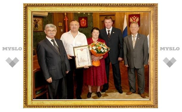Губернатор поздравил тульского певца-патриота с юбилеем