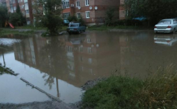 Жители Щекино жалуются на «озеро надежды»