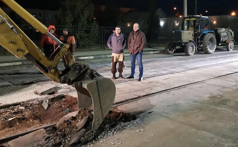 В Туле отремонтировали ул. Рязанскую и трамвайные пути на ул. Коминтерна