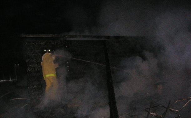 В Велегоже сгорела баня