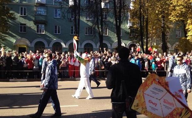 Новомосковск встретил олимпийский огонь