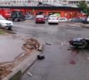 На улице Пушкинской скутерист протаранил московскую иномарку