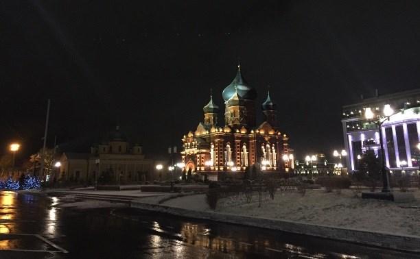В Туле «подсветили» Успенский кафедральный собор