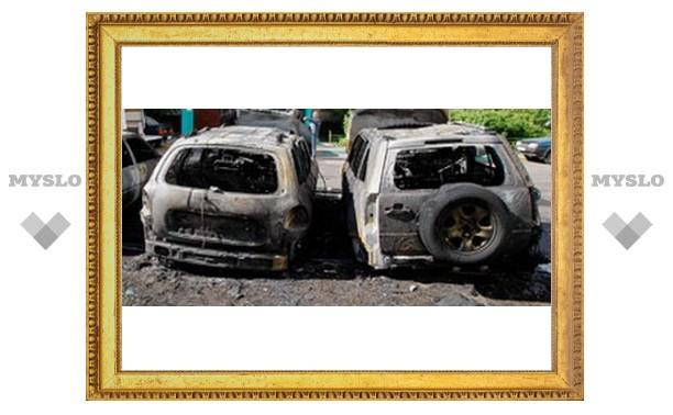 В Туле подожгли автомобили?