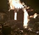 В Алексинском районе сгорела постройка