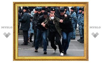 УМВД по Тульской области: На митинге несогласных с выборами задержаны 11 человек