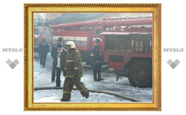 Тульские огнеборцы спасли частный дом