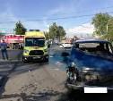В Туле на Одоевском шоссе столкнулись «Форд Транзит» и «Нива»