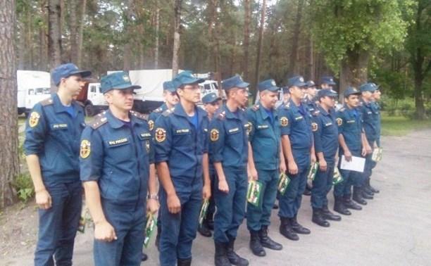 Брянские спасатели проводили тульских коллег