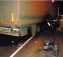 Ночью на трассе «Дон» столкнулись фура и легковой автомобиль