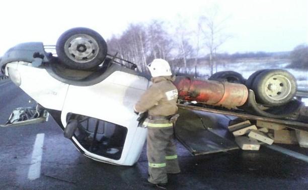 В Венёвском районе водитель «Газели» заснул за рулём и перевернулся