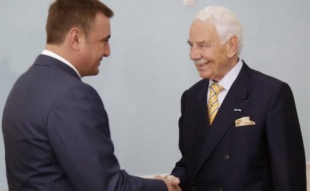 Алексей Дюмин провёл рабочую встречу с владельцем компании «КНАУФ»