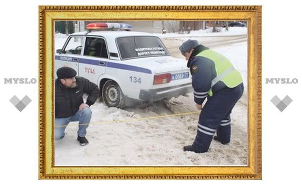 На ямы на дорогах Тулы жалуются даже сотрудники ГИБДД