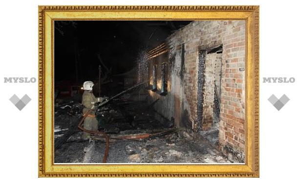При пожаре в Киреевском районе действительно сгорели отец и трое детей