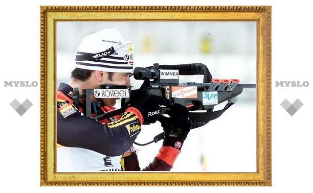 Биатлонист сборной России промахнулся шесть раз из десяти